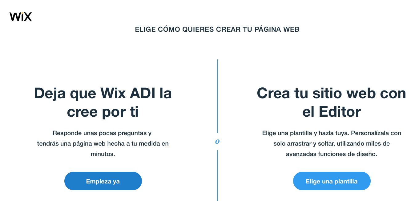 Editor tienda Wix Stores