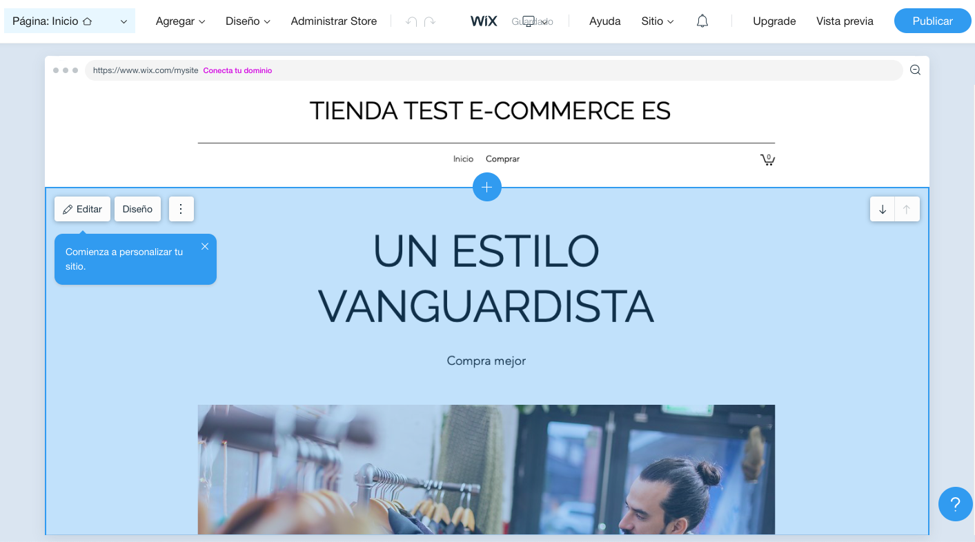 Editor Wix Stores