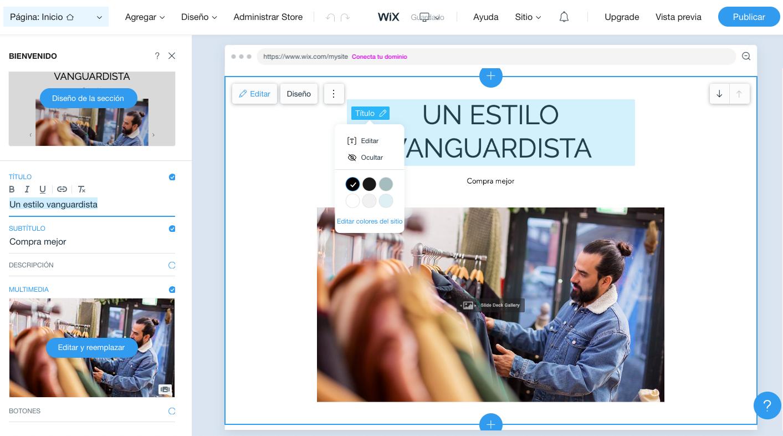 Editor Wix Stores cómo funciona