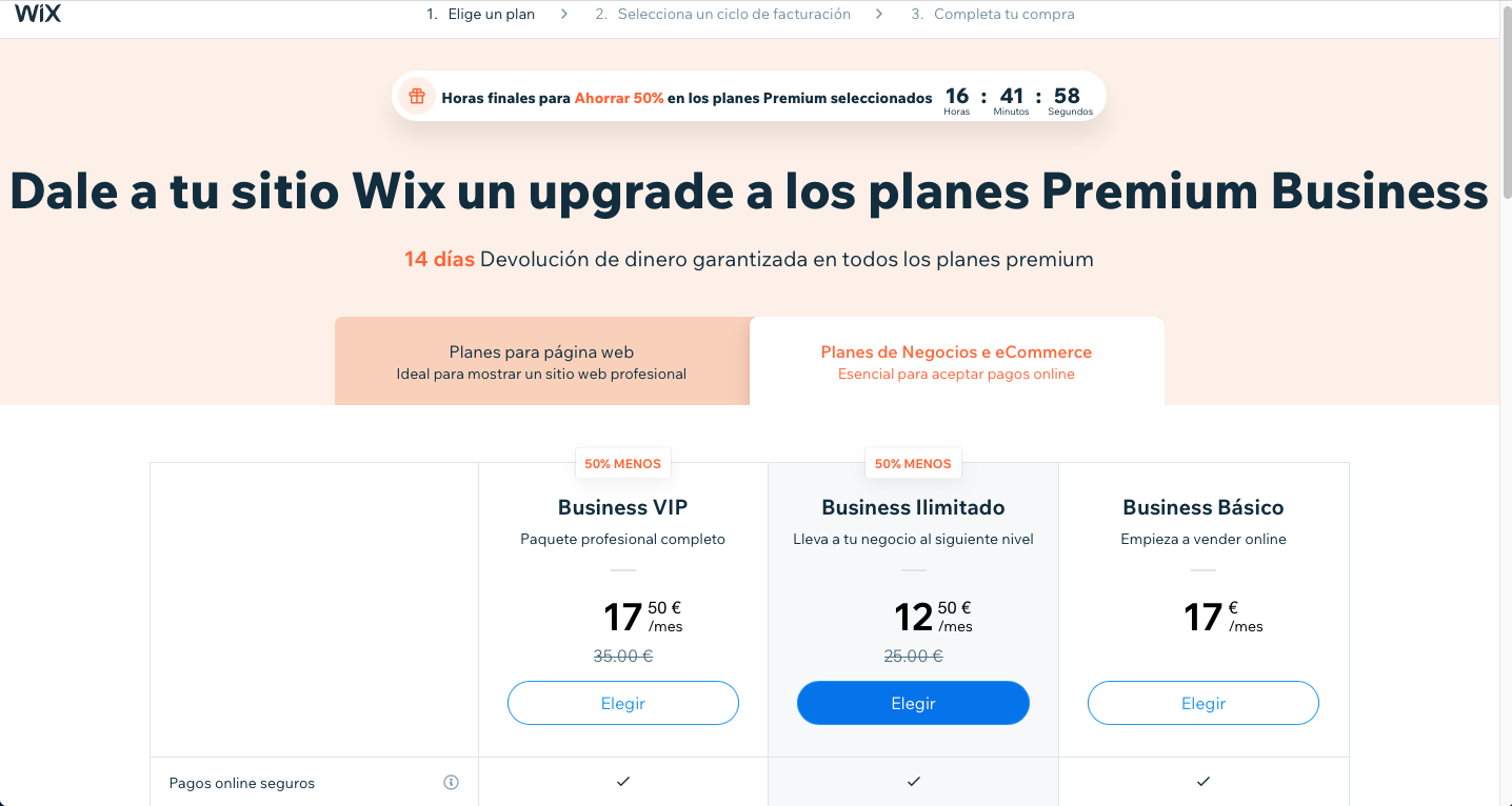 planes Wix Stores