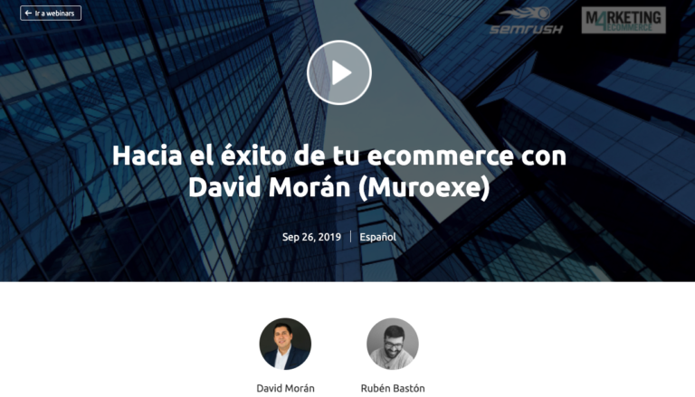 SEMrush webinar con e-commerce Muroexe