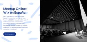 Meetup Online: Wix en España