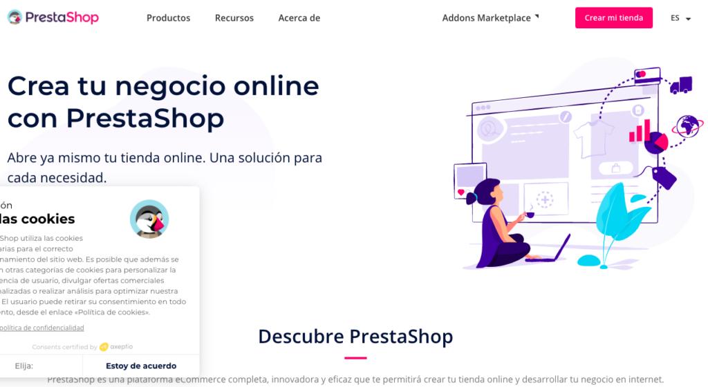 PrestaShop - Herramienta creación ecommerce