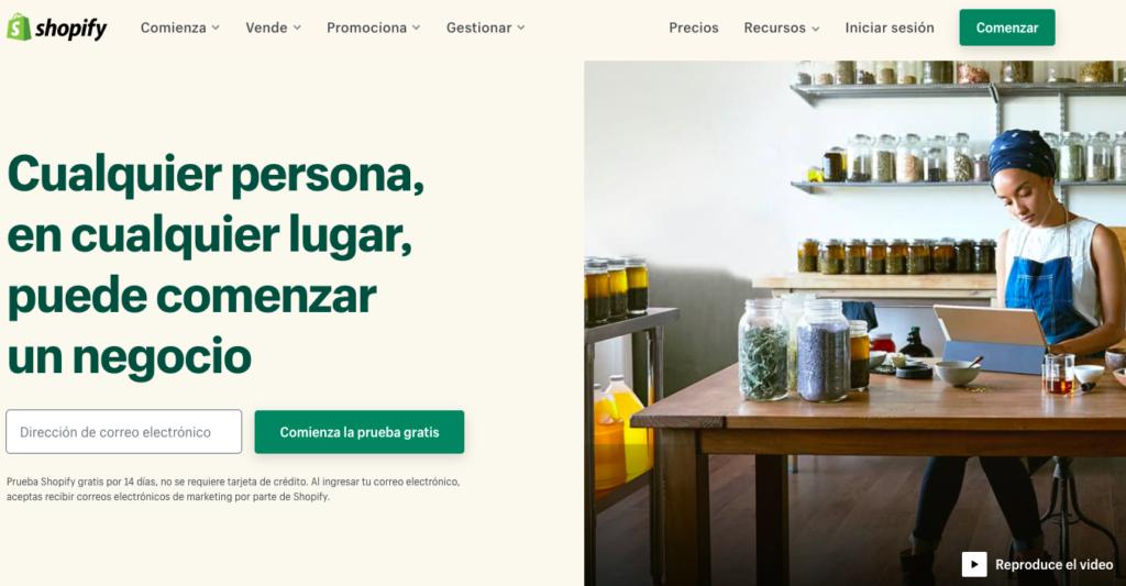 Shopify- Herramienta creación ecommerce