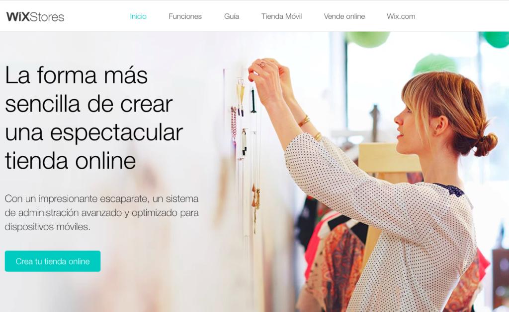 Wix Stores - Herramienta creación ecommerce
