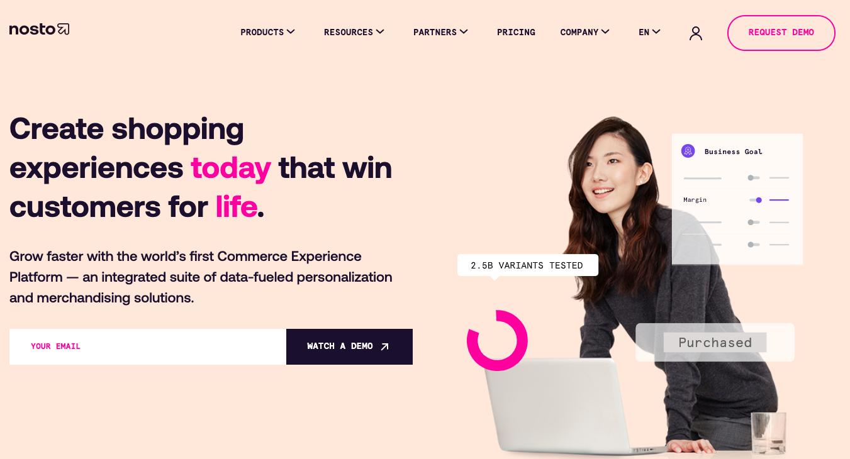 Nosto plataforma personalización ecommerce