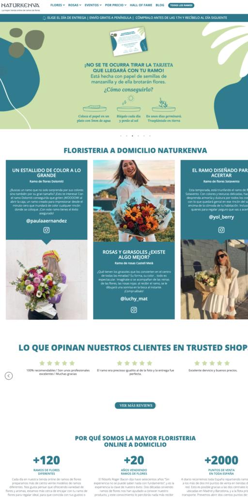 Floristeria Online - Envío de Flores a domicilio con Naturkenva