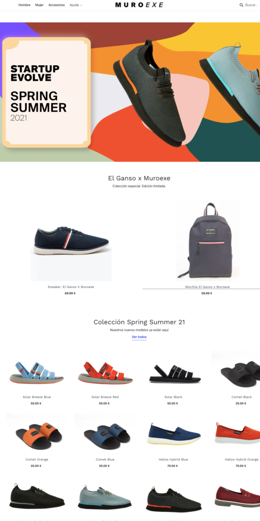 Muroexe tienda online calzado