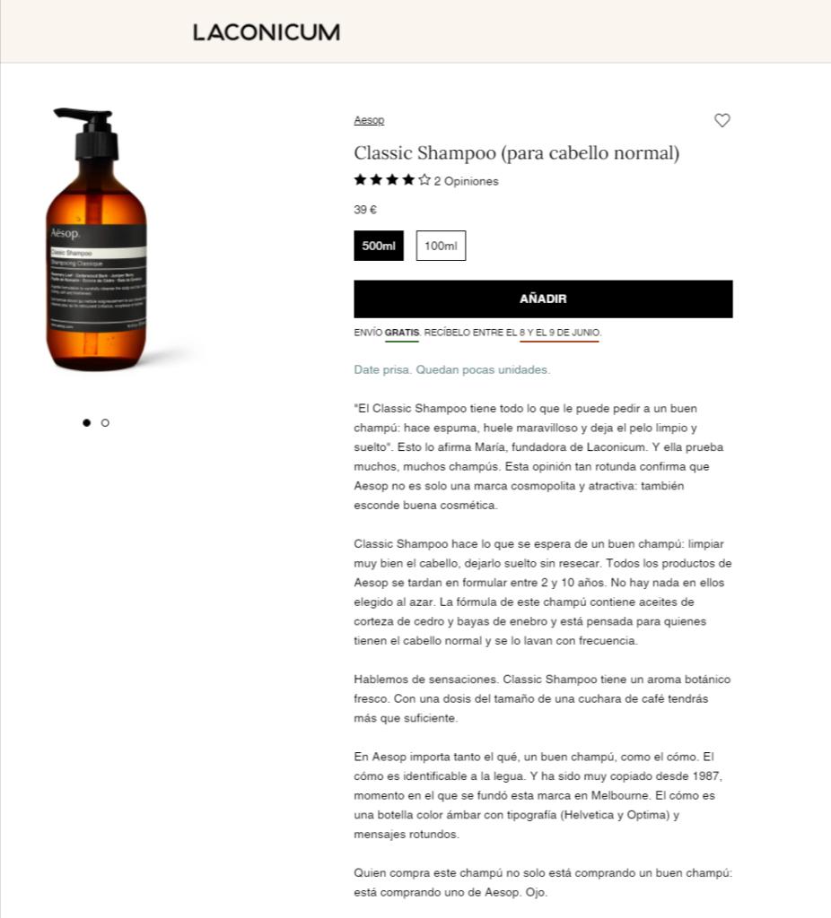 descripcion de producto Laconicum