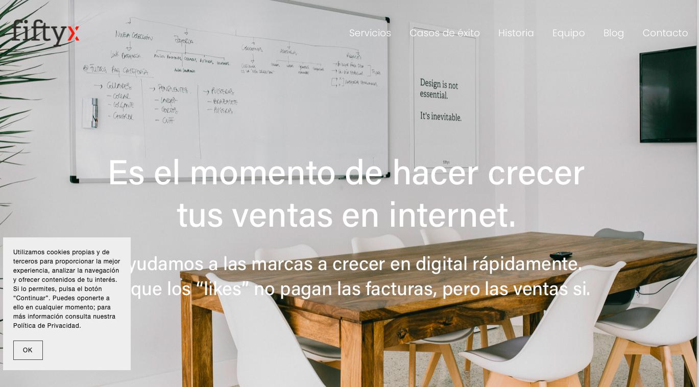 Agencia ecommerce España FiftyX